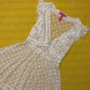 Betsey Johnson polka dot babydoll lingerie